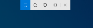 Snipping Bar in Windows 10.