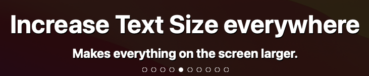 Increase text size